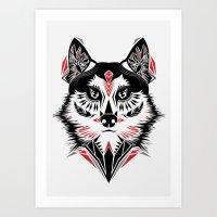American Indian wolf Art Print