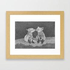 Kissing Cubs Framed Art Print
