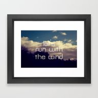 Let's Run With The Wind Framed Art Print