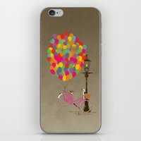 Love to Ride my Bike with Balloons even if it's not practical. iPhone & iPod Skin