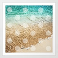 Virgin Islands / Polka D… Art Print