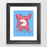 Terror Bear Framed Art Print