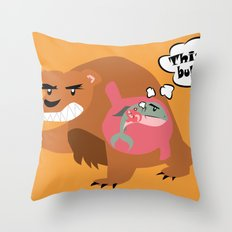 The Food Chain Throw Pillow