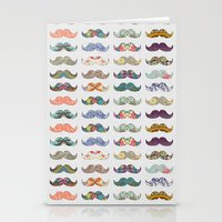 mustache Stationery Cards featuring Mustache Mania by Bianca Green