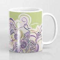Detailed diagonal tangle Mug