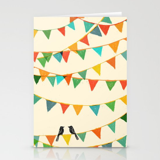 Carnival is coming to town Stationery Card