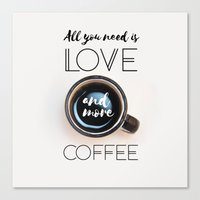 Love & Coffee Canvas Print