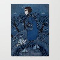 December Park (1) Canvas Print