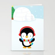 Cute Penguin Boy #2 Stationery Cards