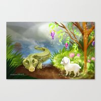 Ray And The Aligator Canvas Print
