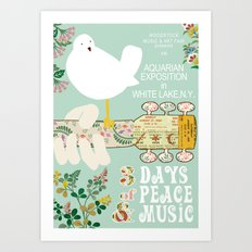 Woodstock Birdie Collage Print Art Print