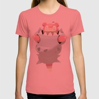 Mega Uncomfortable Slowbro Womens Fitted Tee Pomegranate SMALL
