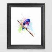 Small bird Framed Art Print