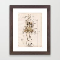 Orpha, the giant bold amazon Framed Art Print