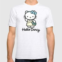 Hello Darcy Mens Fitted Tee Ash Grey SMALL