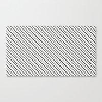 Canvas Print featuring IJzerman Black & White Pattern by Stoflab