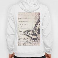 postal butterfly {b&w Hoody