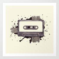 Cassette Art Print