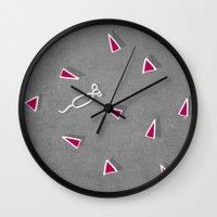 Concrete & Mice Wall Clock