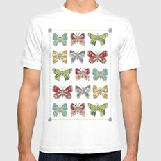 Butterfly butterfly Mens Fitted Tee White SMALL