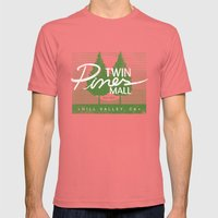 Twin Pines Mall Mens Fitted Tee Pomegranate SMALL
