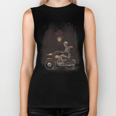 Death Rides In The Night Biker Tank
