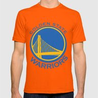 NBA - Warriors Mens Fitted Tee Orange SMALL