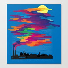 Hidden in the Smog (day) Canvas Print