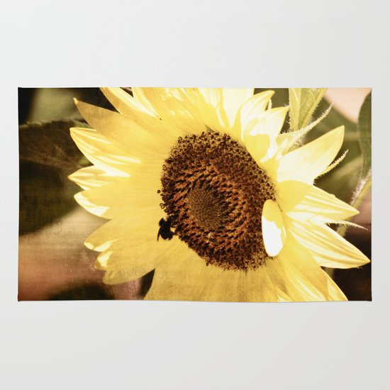 Simple Sunflower Area & Throw Rug