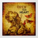 Open your Heart  Canvas Print