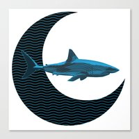 Shark Side Of The Moon Canvas Print
