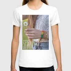 Waiting for Summer Womens Fitted Tee White SMALL