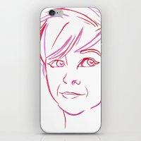Pink Portrait iPhone & iPod Skin