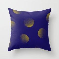 Golden Blues Throw Pillow