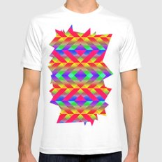 Rainbow White Mens Fitted Tee SMALL