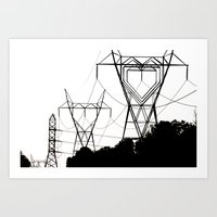 I Heart Your Electricity… Art Print