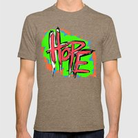 Hope (retro neon 80's style) Mens Fitted Tee Tri-Coffee SMALL
