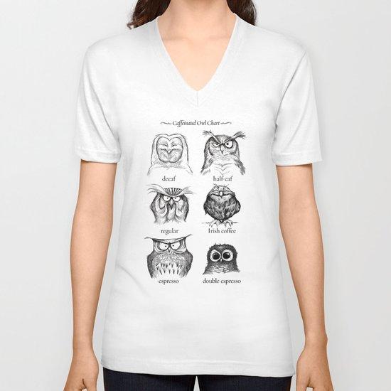 Caffeinated Owls V-neck T-shirt