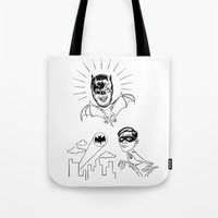 Holy Boastful Bat-man! Tote Bag