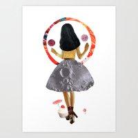 dancing on the moon Art Print