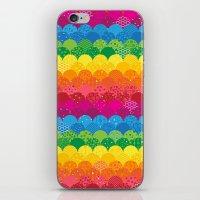 Waves of Rainbows iPhone & iPod Skin