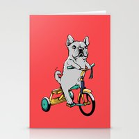 Frenchie Ride Stationery Cards
