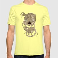 Dead Living By Tree Mens Fitted Tee Lemon SMALL