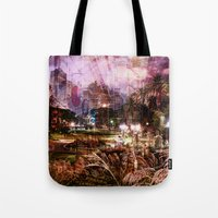 Double Exposure Art Tote Bag