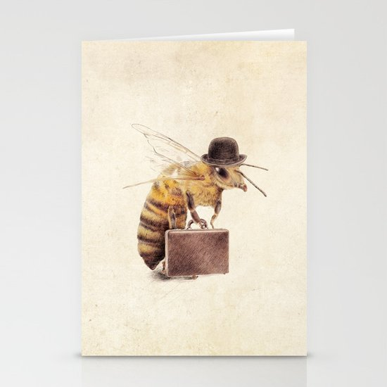 Worker Bee Stationery Card