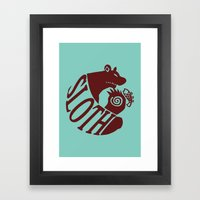 The Grizzly's Sin of Sloth Framed Art Print