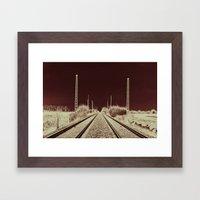 Dawn of the Rails Framed Art Print