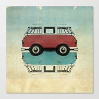Kombi All Fronts  Canvas Print