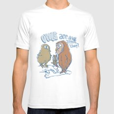 owls are nice SMALL White Mens Fitted Tee