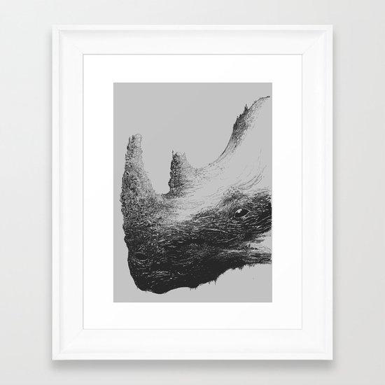 Rhinoceros Valley Framed Art Print